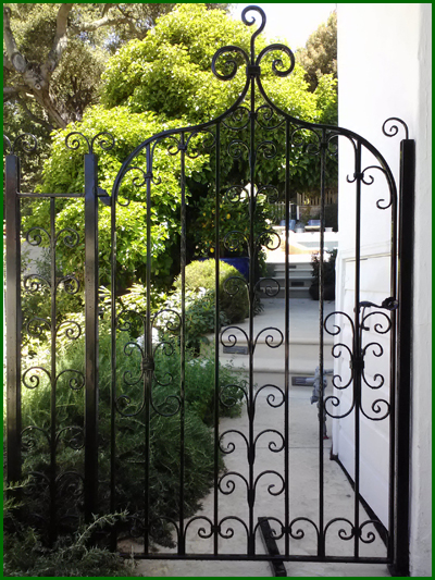 Wrought Iron Courtyard Gate - San Francisco